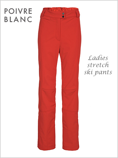 Ladies stretch ski pants (cherry red)