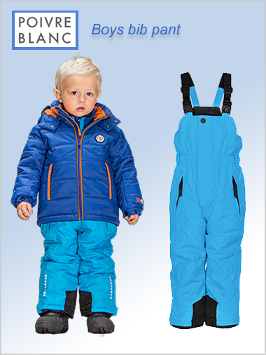Age 4-7: Boys bib pant - Krypton blue
