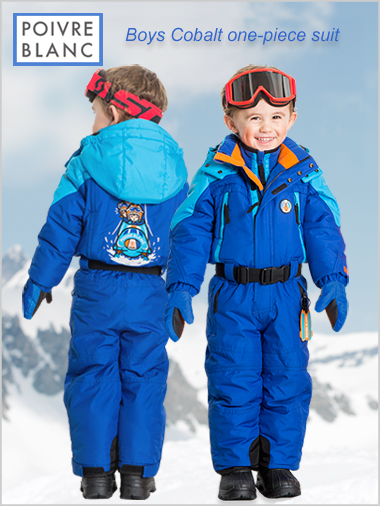 Age 4-7: Boys Cobalt one-piece suit