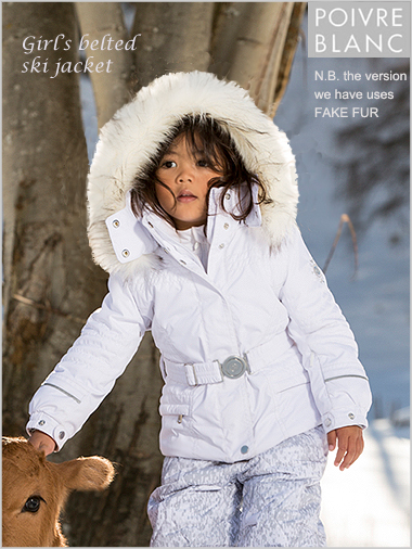 Age 5-7: girl's Amelie jacket in white