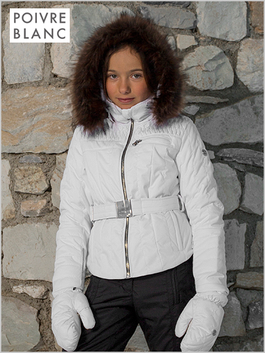 Ages 12: Girl's Sophia jacket in white