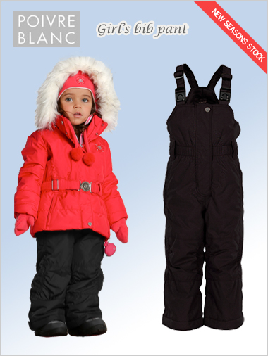 Age 4-7: girls bib pant (black)