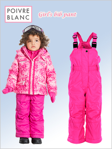 Age 2-5: girls bib pant (poppy pink)