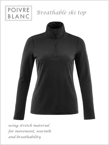 Poivre Blanc breathable ski top (only L now left)