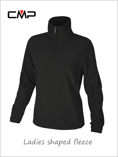 Ladies shaped fleece - black