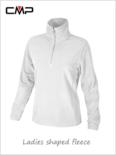 Ladies shaped fleece - chalky white
