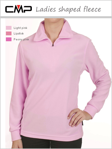 Ladies shaped fleece - pinks