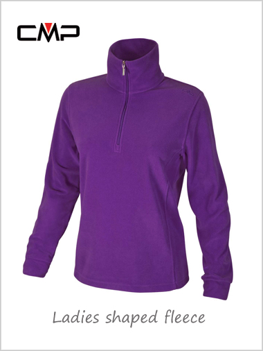 Ladies shaped fleece - purple
