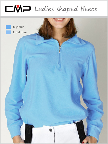 Ladies shaped fleece - light blue