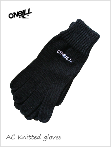 Mens AC Knitted gloves - black