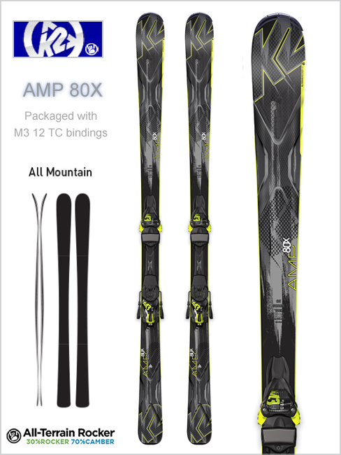 AMP 80X skis and M3 12 TC binding