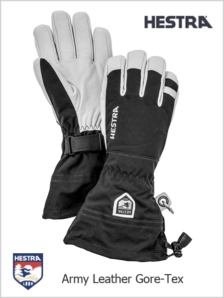 Army Leather Heli Ski gloves - black