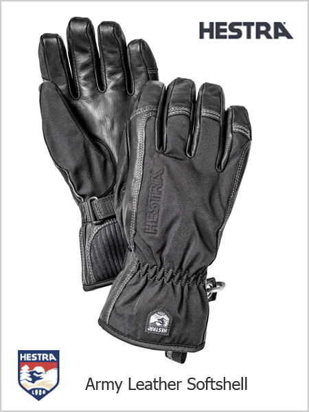 Army Leather Softshell gloves