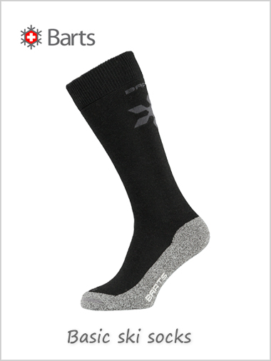 Basic ski sock Uni merino (Black) - kids / adults