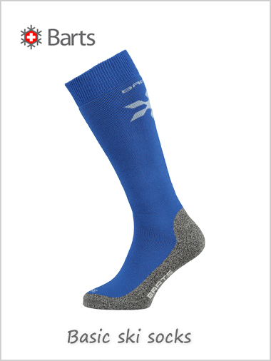 Basic ski sock Uni merino (Cobalt) - kids / adults