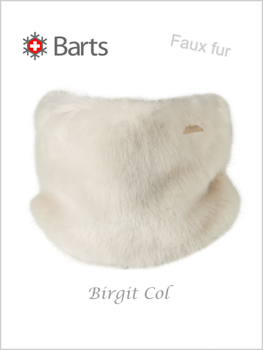 Birgit col - faux fur white