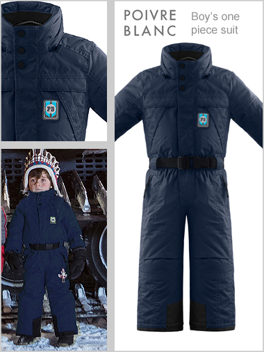 Age 5-6: Boys one-piece suit - Deep blue