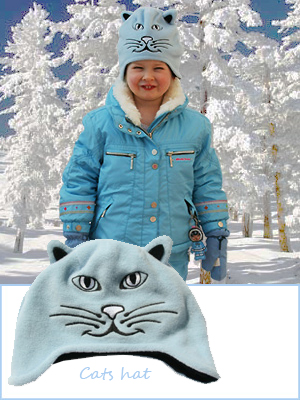 Animal hat CATS - toddler / child