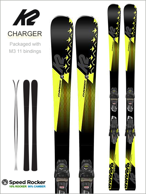 Charger skis and Marker M3 11 binding
