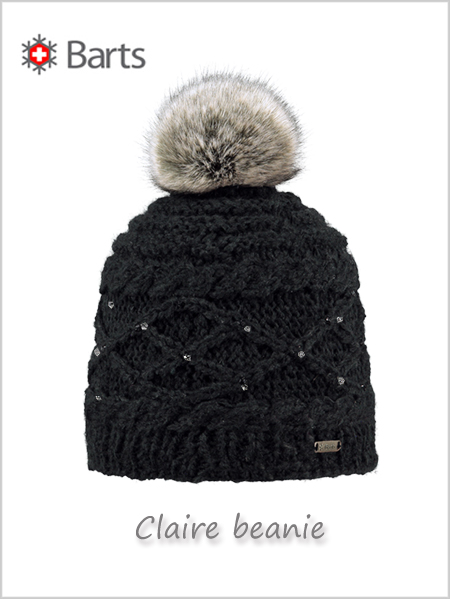 Claire beanie (with rhinestones) - black