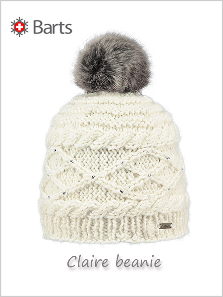 Claire beanie (with rhinestones) - cream