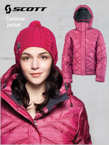 Caloosa Down jacket - Cerise (only XL now left)