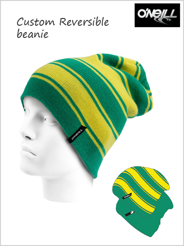 Custom reversible beanie - Mundaka green