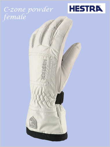 Czone powder female gloves - white