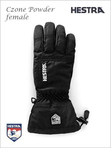 CZone powder female gloves - black