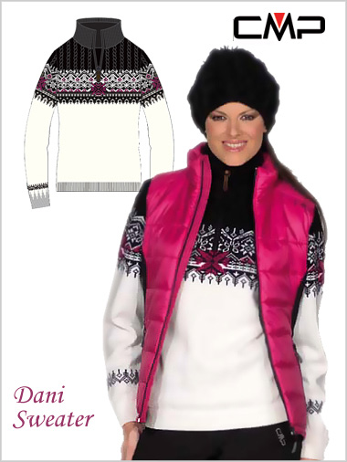 Dani Ladies Traditional Knit Sweater