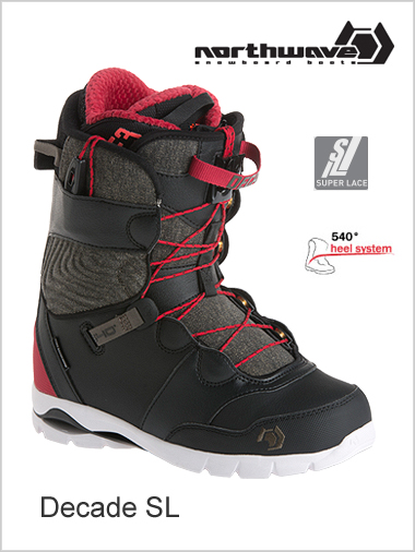 Decade SL mens snowboard boot - black tarmac