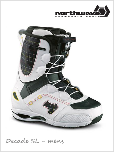 Decade SL mens snowboard boot - white / black