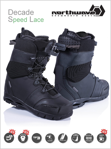 Decade SL mens snowboard boot - black