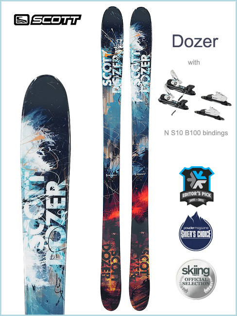 Scott Dozer skis and NS10 (B100) binding