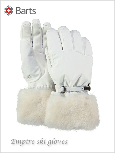 Empire ski gloves - white