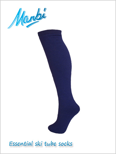 Thermal ski tube socks - navy