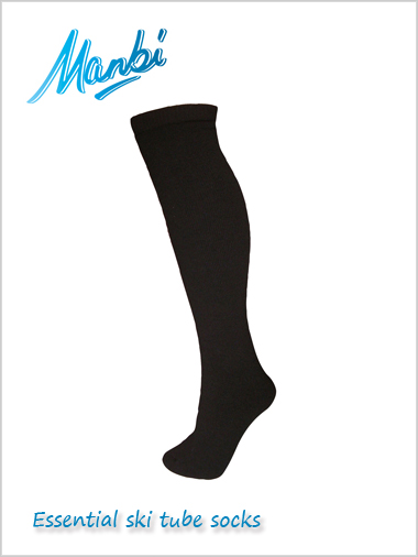 Thermal ski tube socks - black