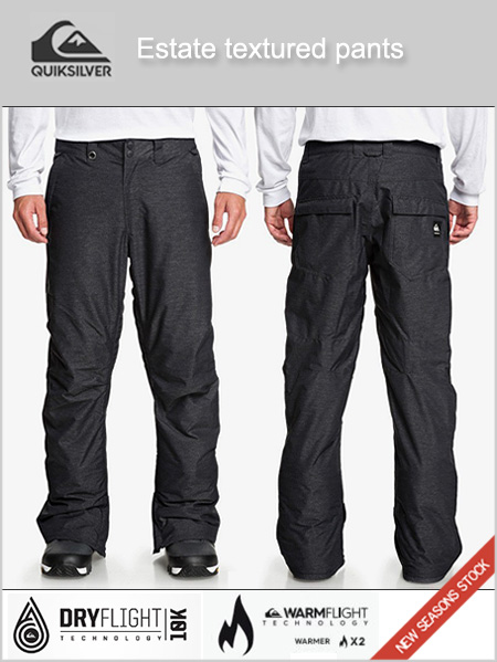 Estate textured snow pants - Black heather