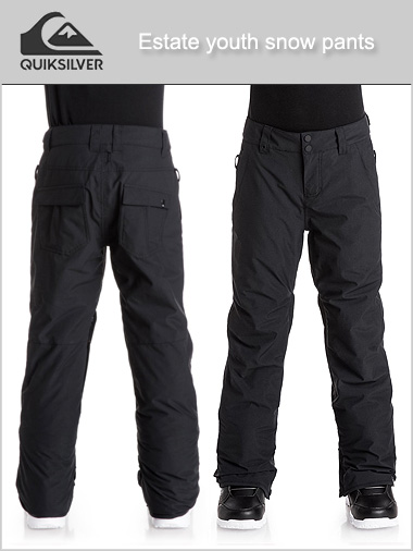Age 8-16: Estate snow pants - black