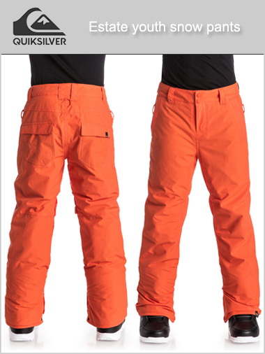 Age 8-16: Estate snow pants - flame