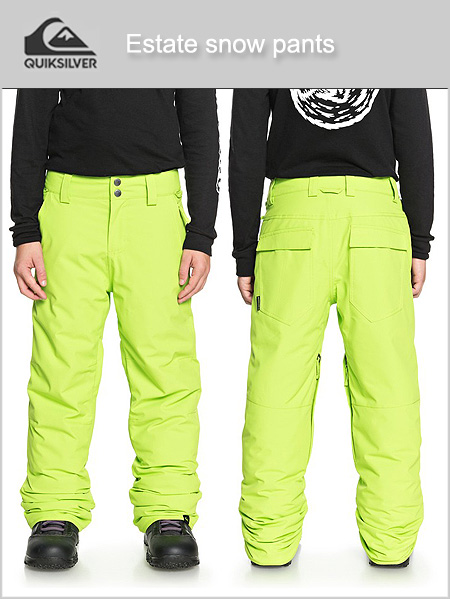 Ages 14-15: Estate snow pants - Lime green