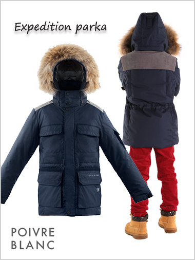 171f85f73c2 Age 8-14: Boys Expedition parka - deep blue by Poivre Blanc -