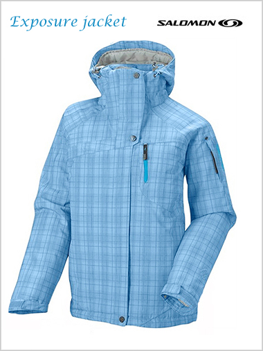 Exposure jacket W - light blue check (only UK 10 left)