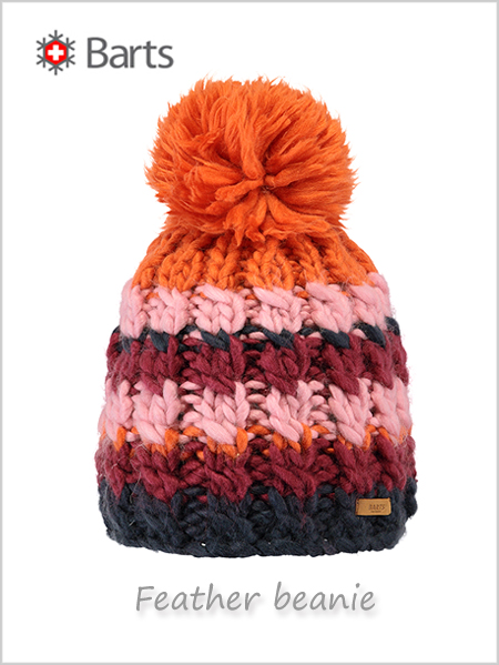 Barts Feather beanie - maroon