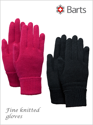 Ladies fine knitted gloves