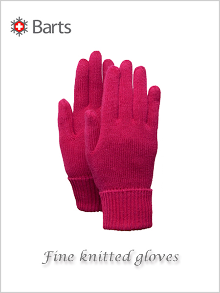 Ladies fine knitted gloves - berry