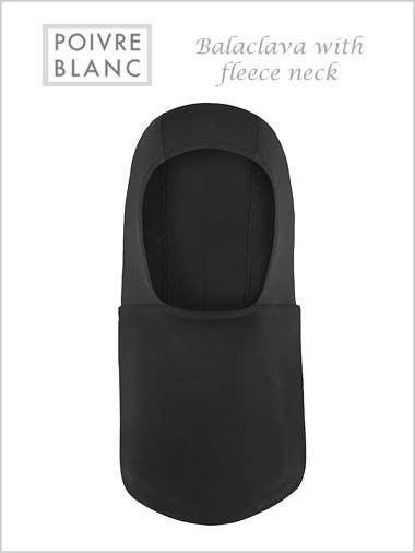 Balaclava / fleece neck (Black) - child / junior