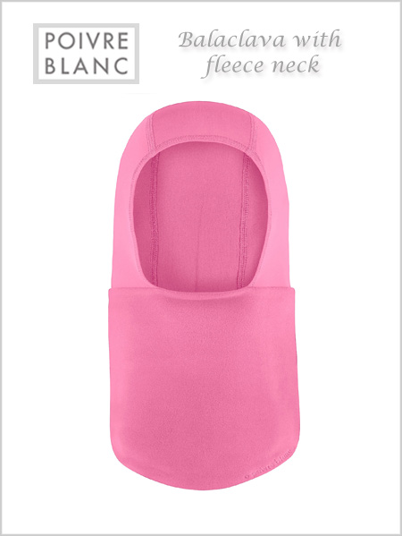 Balaclava / fleece neck (Fever pink) - toddler / child