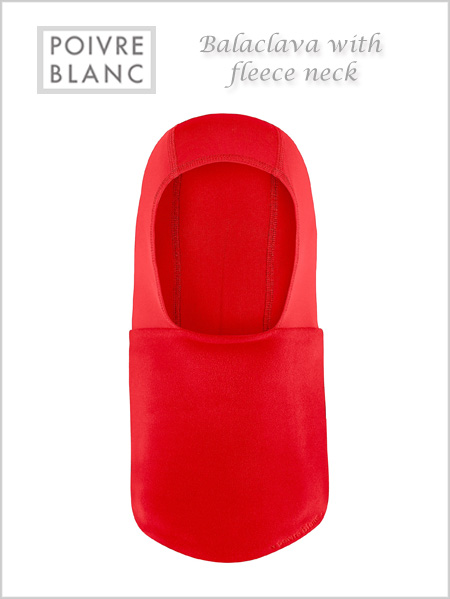 Balaclava / fleece neck (Scarlet red) - child / junior
