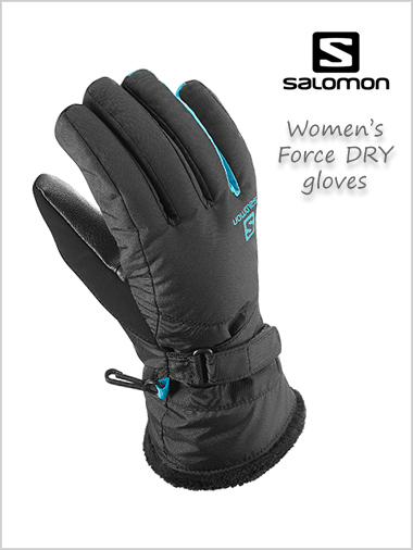 Force DRY Ladies gloves - black / bluebird